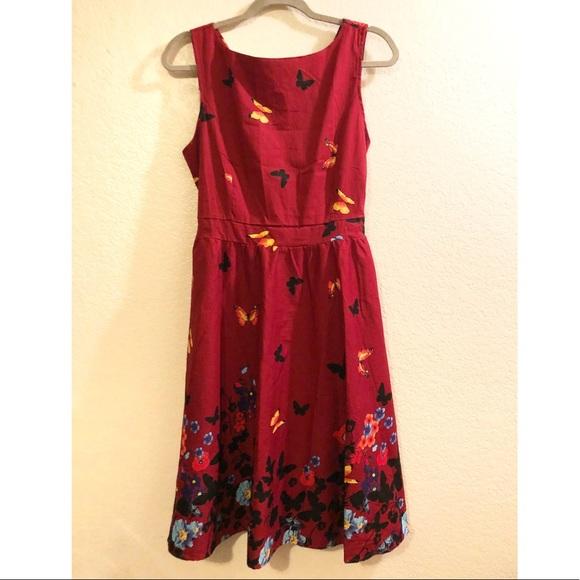 Dresses & Skirts - Butterfly & flower tied waist tank dress